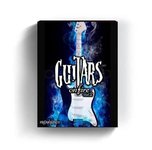 Guitars on fire